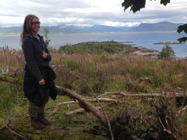 Lea looking over Rubha Phoil in the sound of Sleat.